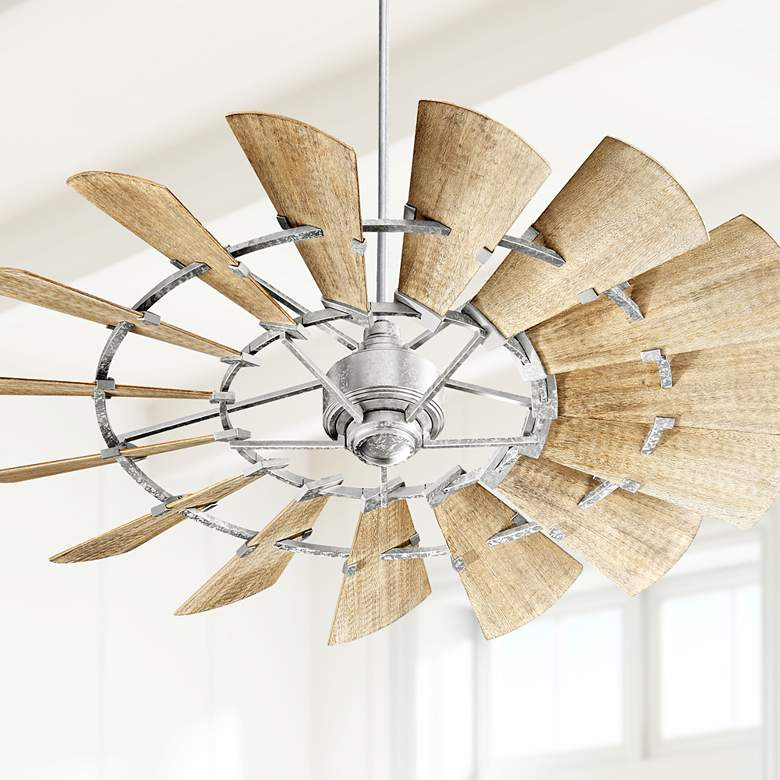 "60"" Quorum Windmill Galvanized Ceiling Fan"
