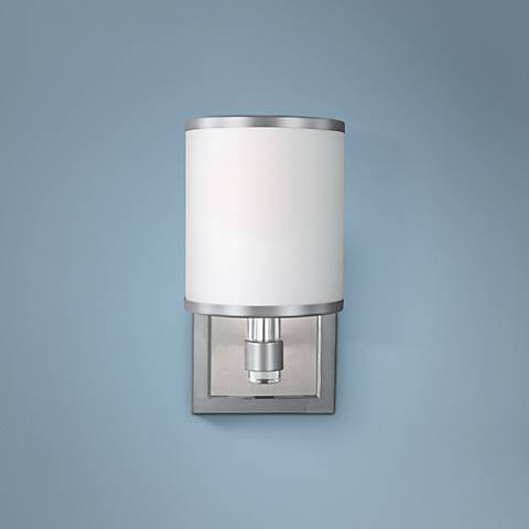 "Feiss Prospect Park 9 3/4"" High Satin Nickel Wall Sconce"