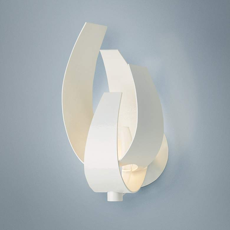"Hubbardton Forge Corona 9 3/4""H Gloss White Wall Sconce"