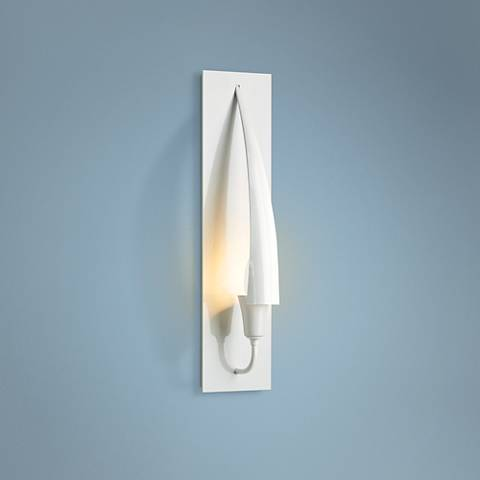 "Hubbardton Forge Cirque 17 1/2""H Gloss White Wall Sconce"