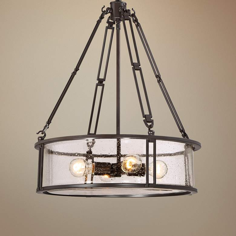 Quoizel Buchanan 20 W Western Bronze Steel Pendant Light