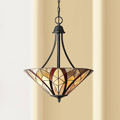 "Quoizel Victory 19 1/4"" Wide Valiant Bronze Pendant Light"