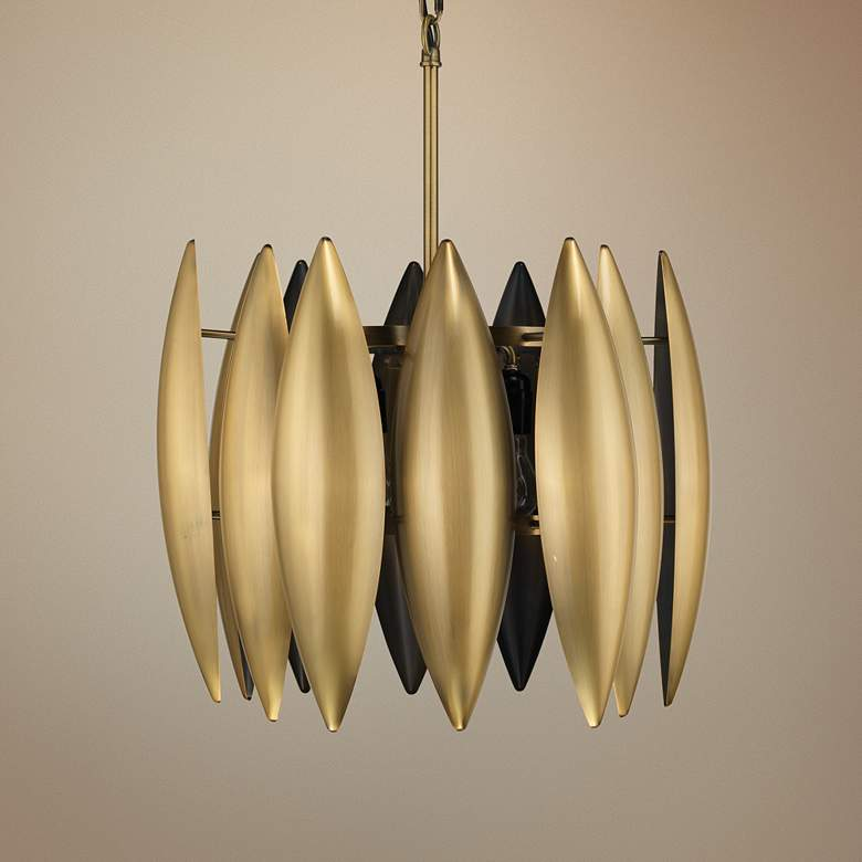 "Jamie Young Ace 16"" Wide Brass Large Pendant Light"