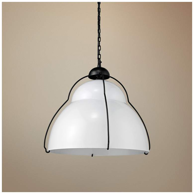 "Jamie Young Canteen 18"" Wide White Pendant Light"