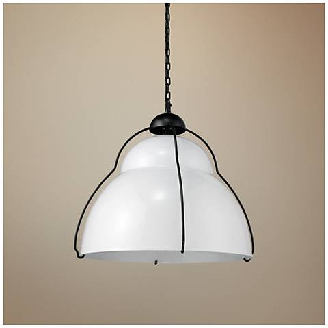 "Jamie Young Canteen 22"" Wide White Pendant Light"