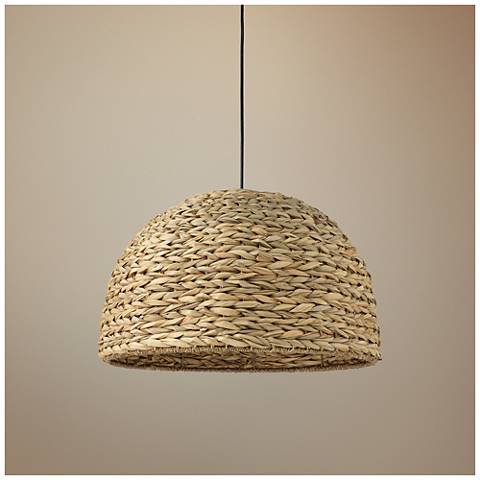 "Jamie Young Shoreline 22""W Natural Sea Grass Pendant Light"