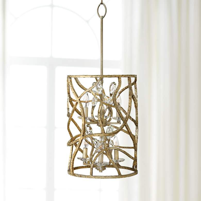 Fredrick Ramond Eve 14 1 2 W Champagne Gold Pendant Light
