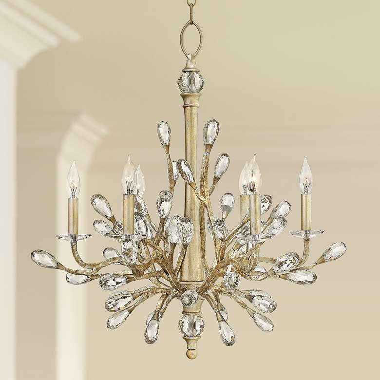 "Fredrick Ramond Eve 26"" Wide Champagne Gold Chandelier"