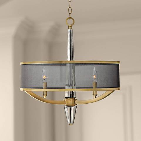 "Hinkley Ascher 21 1/4""W Brush Caramel 3-Light Chandelier"