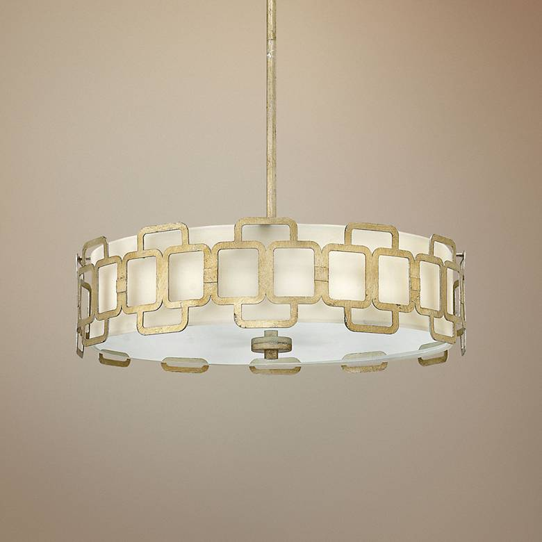 "Hinkley Sabina 22 1/2""W Silver Leaf Round Pendant Light"