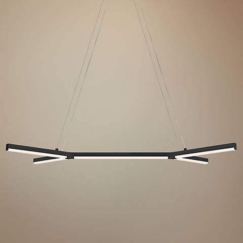 "Sonneman Bi-Y 36 3/4"" Wide Satin Black LED Island Pendant"