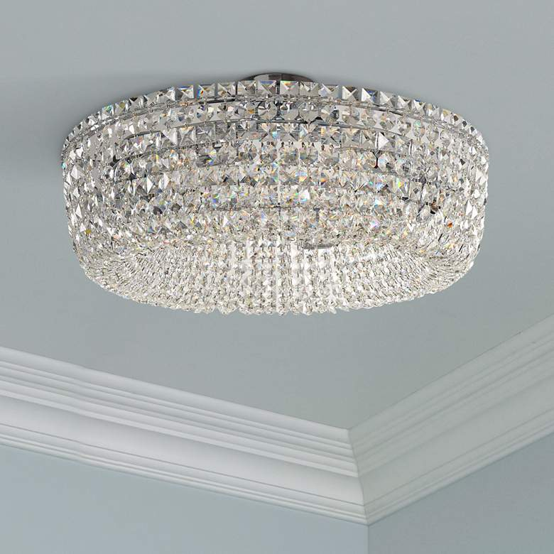 "Cessano 24"" Wide Polished Chrome 6-Light Ceiling Light"