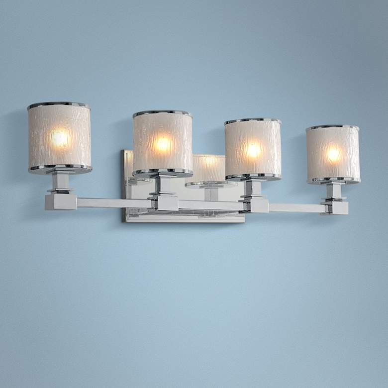 "Destin 26 1/2"" Wide Chrome 4-Light Bath Light"