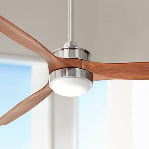 "52"" Windspun Walnut - Nickel LED DC Ceiling Fan"