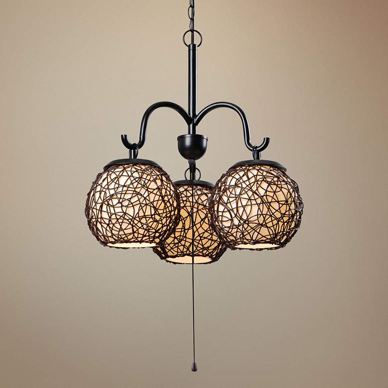 "Kenroy Home Castillo 17"" Wide Bronze Outdoor Pendant"