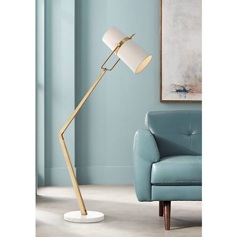 Arteriors Home Juniper Angled Brass Adjustable Floor Lamp
