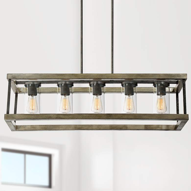 "Eden 38""W Weathervane Outdoor Kitchen Island Light Pendant"