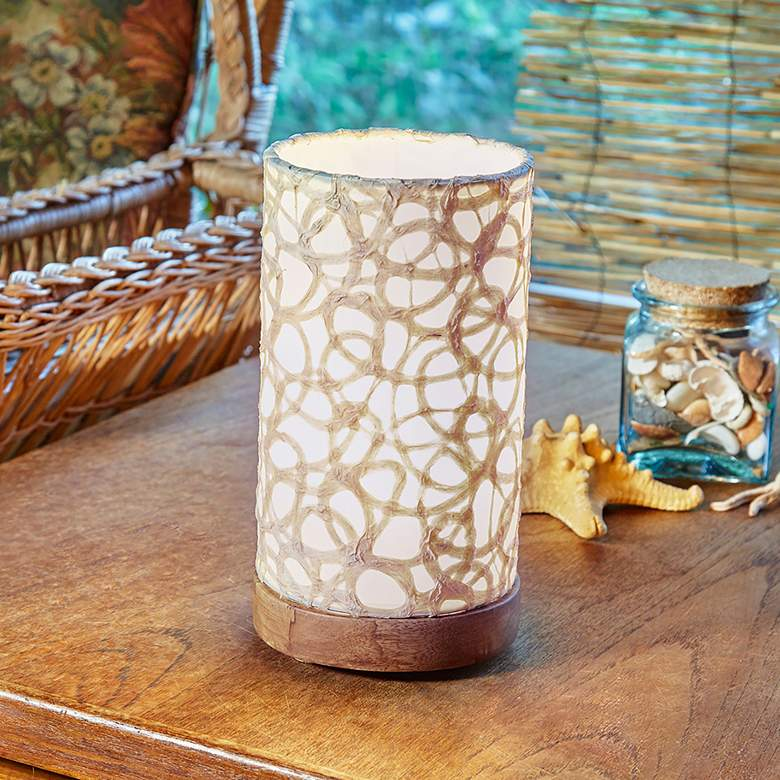 "Eangee 9""H Paper Cylinder Swirl Mini Table Accent"