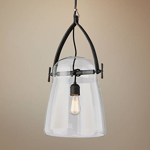 "Silverlake 12"" Wide French Iron Mini Pendant"