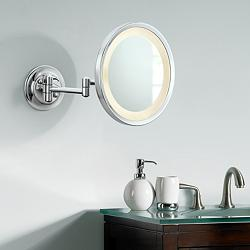 Aptations Chrome 5X Magnifying LED Lighted Makeup Mirror