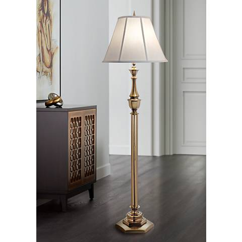 Stiffel Redondo Antique Brass Floor Lamp