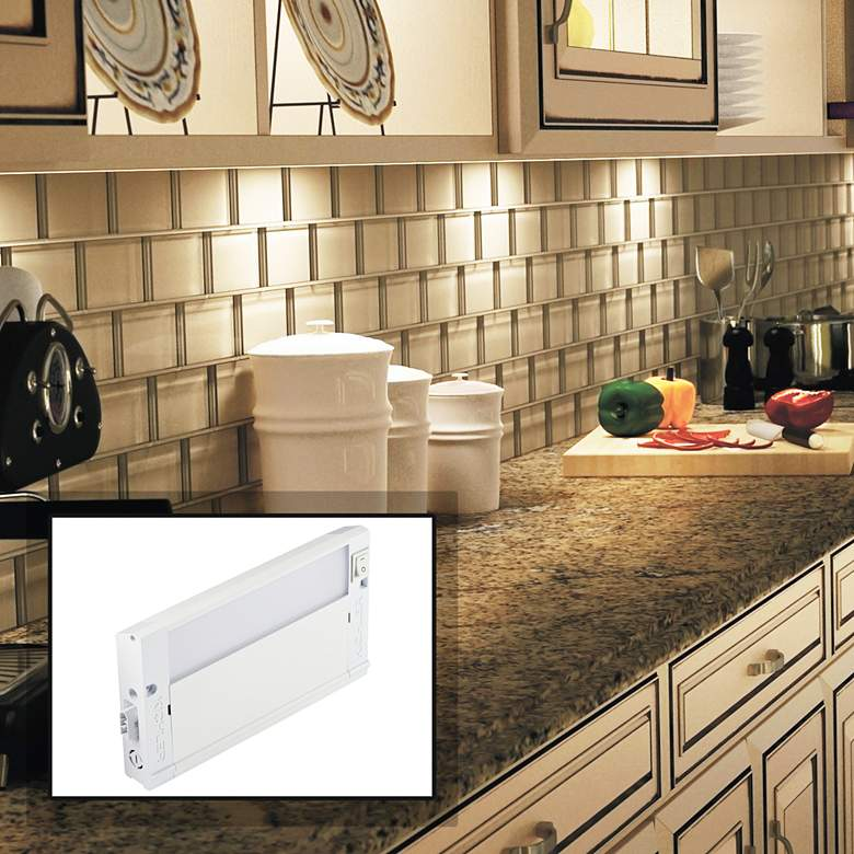 Kichler 4u Textured White 8 Wide Led Under Cabinet Light