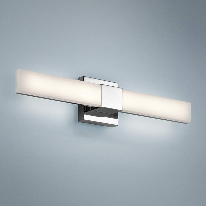 "Elan Neltev Chrome 24"" Wide LED Bath Light"