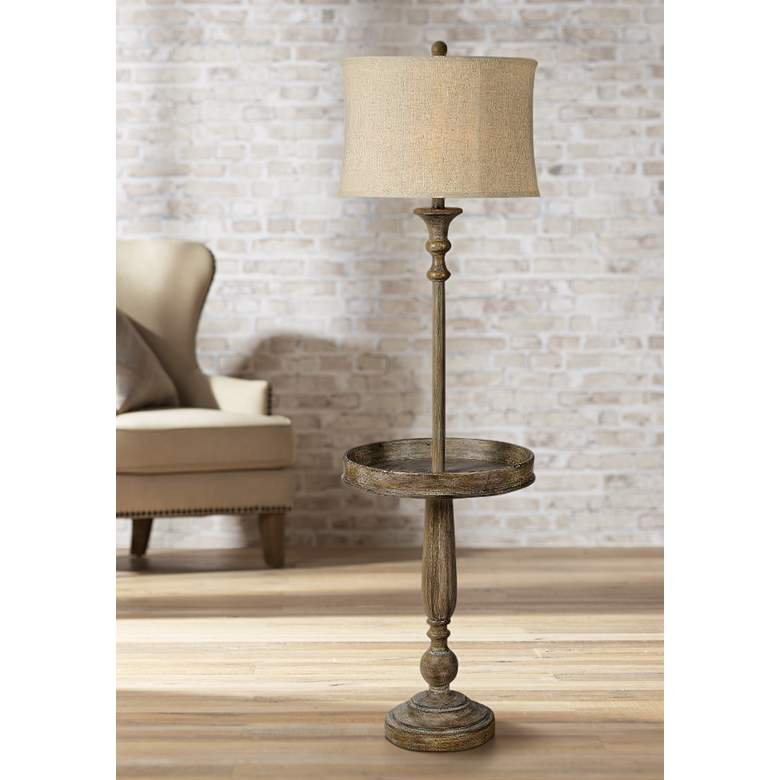 Forty West Grover Weathered Wash Floor Lamp