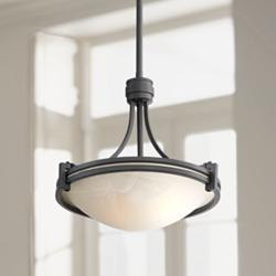 "Possini Euro Deco 12-1/2"" Wide Bronze Mini Pendant"