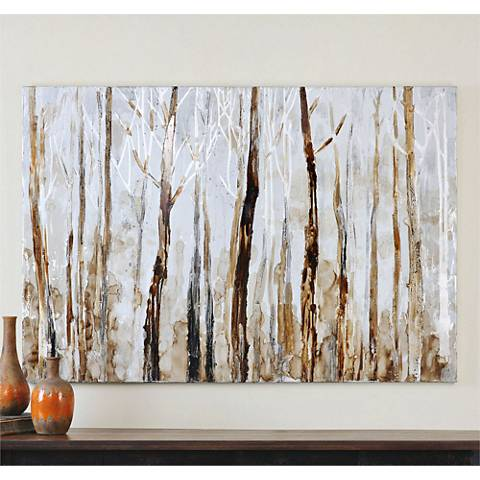"Uttermost Mystic Forest 60"" Wide Canvas Wall Art"