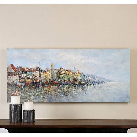 "Uttermost Overlooking the Sea 60"" Wide Canvas Wall Art"