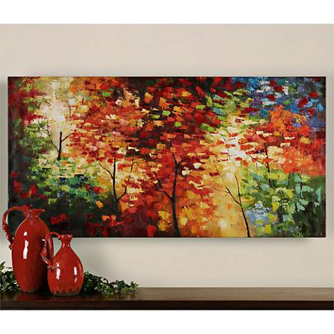 "Uttermost Bright Foliage 60"" Wide Canvas Wall Art"