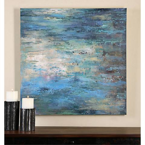 "Uttermost Splish Splash 40"" Square Canvas Wall Art"