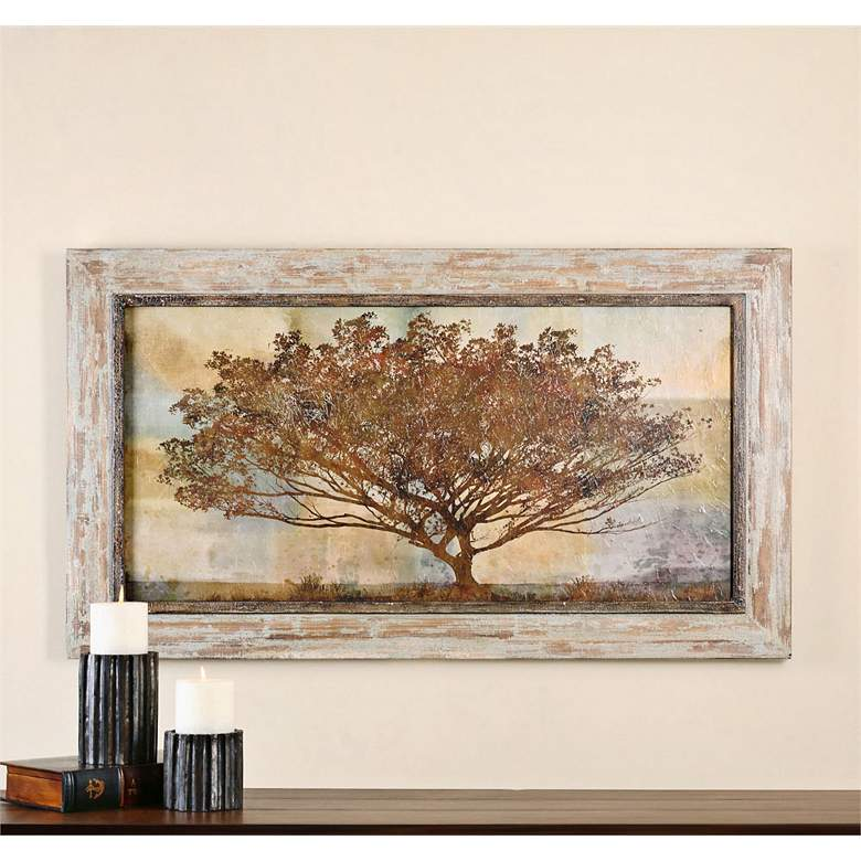 "Uttermost Autumn Radiance 56"" Wide Landscape Wall Art"