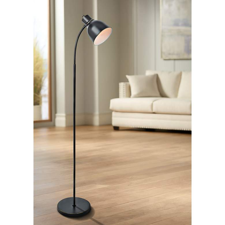 Lite Source Galvin Bronze Task Floor Lamp
