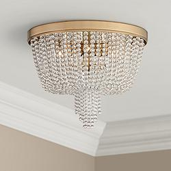 "Royalton 18 1/4"" Wide Aged Brass Ceiling Light"
