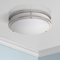 Flush mount led ceiling lights lamps plus zaire brushed nickel 10 wide flushmount led ceiling light aloadofball Images
