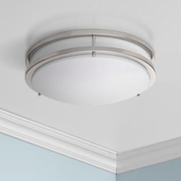 "Zaire Brushed Nickel 10"" Wide Flushmount LED Ceiling Light"