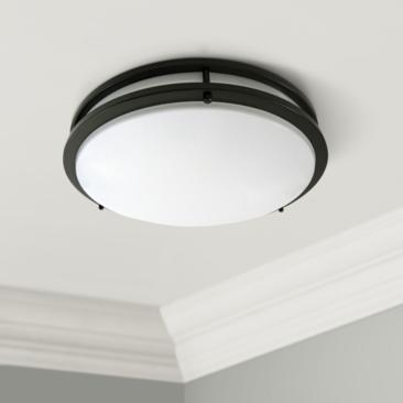 "Zaire Bronze 17"" Wide Flushmount LED Ceiling Light"