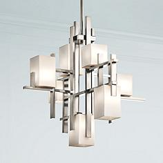 Kichler contemporary chandeliers lamps plus kichler city lights steel 235 aloadofball Images