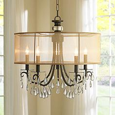 Crystorama Hampton 24 Wide English Bronze Chandelier
