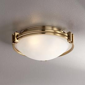 Possini Euro Deco 12 3 4 Wide Warm Br Ceiling Light