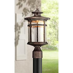 line voltage to posts lights quartz converted lanterns column can outdoor post retrofit lamp halogen low be