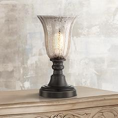 Table top torchiere table lamps lamps plus isaac mercury glass 13 aloadofball Gallery