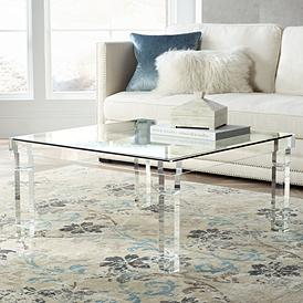 Bristol Square Clear Acrylic Coffee Table