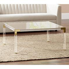 Coffee Tables New Coffee Table Furniture Lamps Plus - Clear acrylic cocktail table