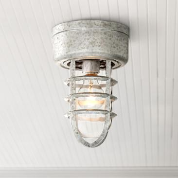 "Marlowe 10 3/4"" High Galvanized Cage Outdoor Ceiling Light"