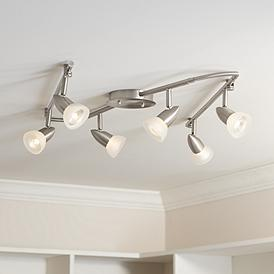 Pro Track Flex Rave 6 Light Satin Chrome Fixture