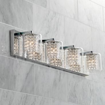 "Possini Euro Coco 28 1/2"" Wide Chrome 4-Light Bath Light"