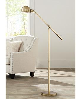 Dawson Antique Br Pharmacy Floor Lamp